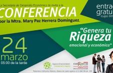 """Ayuntamiento capitalino invita a la conferencia  """"Genera Tu Riqueza Emocional y Económica"""""""