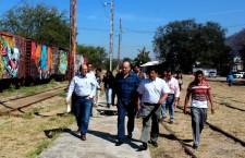 Supervisa Presidente Municipal trabajos de rehabilitación del Museo del Ferrocarril