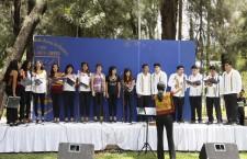 La Escuela de Bellas Artes UABJO armoniza los jardines de Ciudad Universitaria