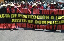 Señala MAIZ protección del Gobierno del Estado para los asesinos de Bety Cariño y Jiri Jackola