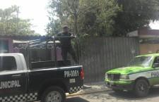 Despliegan  operativo de vigilancia por lluvias en Santa Lucía del Camino
