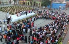 Inician festejos por el 483 aniversario de la ciudad, repican las campanas de Santo Domingo