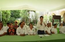 Asegura Moisés Molina que hay congruencia en el PVEM, son postuladas seis mujeres a diputaciones federales
