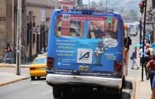 En próximos días iniciará la regularización de publicidad en transporte público: Municipio capitalino