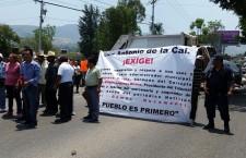 Toman habitantes de San Antonio de la Cal planta potabilizadora para exigir elecciones