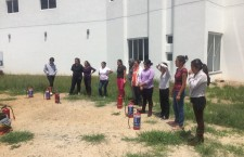 Capacita Protección Civil Municipal sobre el manejo de extintores a personal de guardería