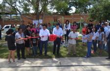 Galdino Huerta y Alberto Vargas inauguran gimnasios al aire libre en Santa Lucía del Camino