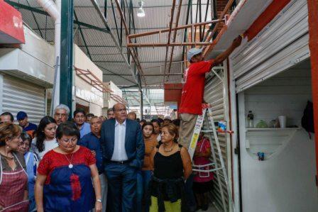 La obra física del Mercado Benito Juárez está prácticamente concluida: Javier Villacaña