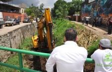 Realiza Gobierno Municipal de Santa Lucía del Camino desazolve y limpieza en Río San Luis