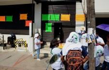 Protestan trabajadores del IEBO, exigen indemnización de trabajador fallecido en 2017