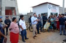 Entrega Raúl Cruz obras en las colonias Calicanto, 25 de Enero y Rancho Nuevo