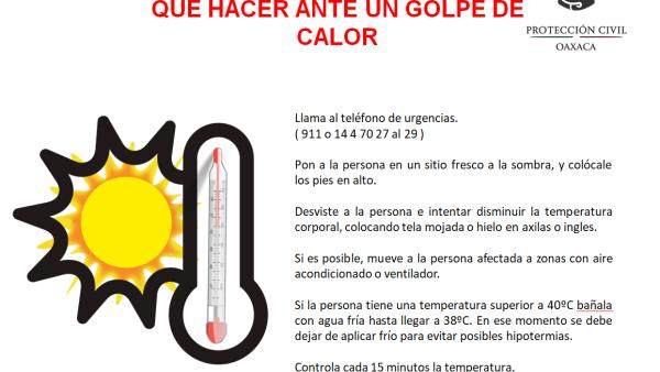 Alerta CEPCO por Onda de Calor en territorio oaxaqueño