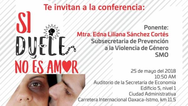 """En el Día Naranja, dependencias impartirán conferencia: """"Si duele, no es amor"""""""