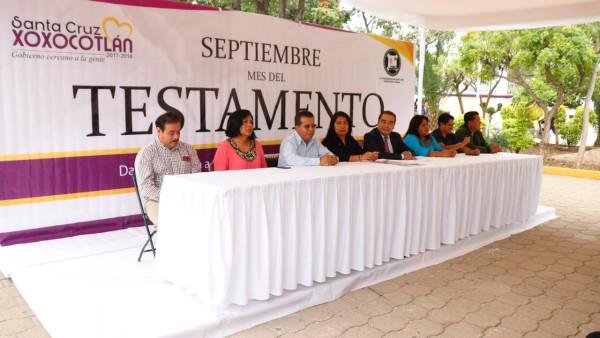 Promueven cultura sobre testamento en familias de Xoxocotlán