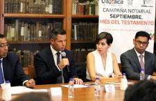 """Atestigua Alejandro Murat inicio de la campaña  """"Septiembre mes del testamento"""""""