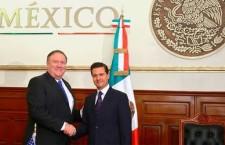 Peña Nieto destaca ante Pompeo que México tiene una política migratoria ordenada