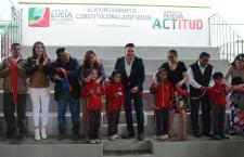 Inaugura Raúl Cruz gradas de la Primaria Justo Sierra