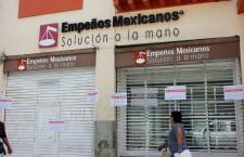 La Secretaría de Finanzas continuará clausuras a casas de empeño irregulares