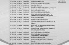 A cuentas secretarios estatales ante el Poder Legislativo por II Informe