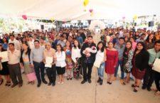 Brindan legalidad y certeza jurídica a 140 parejas en Xoxocotlán