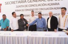 Firman Convenio de Conciliación Agraria, San Martín Peras y Santos Reyes Zochiquilazala
