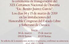 "Listo Certamen de Oratoria Benito ""Juárez García"" convocado por Congreso local"