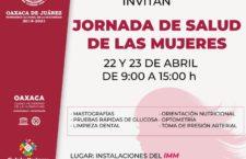 Invita Gobierno de Oaxaca de Juárez a la Jornada de Salud de las Mujeres