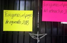 Trabajadores del TEEO exigen pago de prestaciones