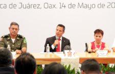 Convoca Murat Hinojosa a todos los órdenes de gobierno a trabajar en conjunto por la seguridad de Oaxaca