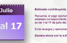 El 17 de julio será  el último día para presentar declaración de impuestos estatales