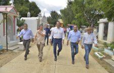 Verifica edil Oswaldo García condiciones de panteones de Oaxaca de Juárez