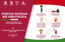 Exhorta Gobierno capitalino a no usar pirotecnia en fiestas patrias