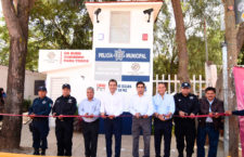 Rehabilita Oswaldo García Módulo de Policía en San Martín Mexicapam