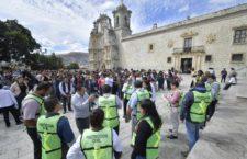 Cumple metas de prevención el simulacro de sismo en Oaxaca de Juárez