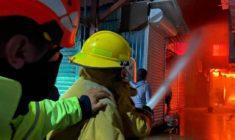 Agradece edil Oswaldo García a cuerpos de emergencia p orsofocar incendio en Mercado de Abasto