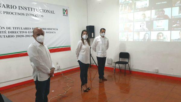 Reconoce Alejandro Moreno, trabajo de Jorge González Ilescas al frente del PRI en Oaxaca