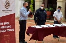 Recibe Ayuntamiento capitalino donación de cubrebocas del Club Rotario Oaxaca