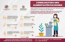 Exhorta Ayuntamiento de Oaxaca a procurar una alimentación saludable durante la pandemia