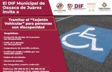 Invita DIF Municipal a tramitar tarjetones de estacionamiento para personas con discapacidad