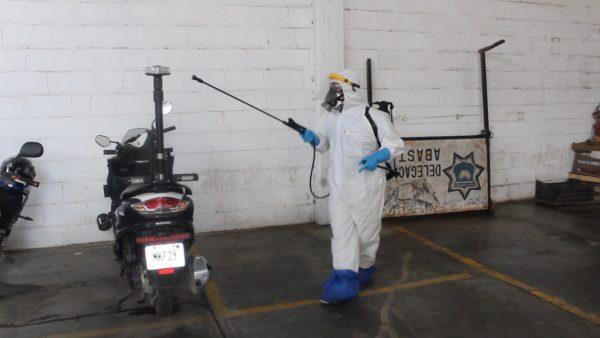 Higieniza Ayuntamiento instalaciones de la Policía Municipal en Mercado de Abasto