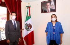 Titular de Seculta, Karla Villacaña toma protesta a nuevo Subsecretario de Planeación Estratégica