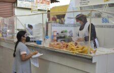 Ayuntamiento de Oaxaca vigila cumplimiento de normas sanitarias en mercados de La Merced y La Noria