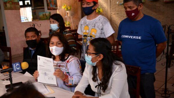 Síndica de Xoxocotlán denuncia que su ex esposo utiliza su imagen para apoyar a Morena