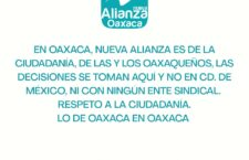 Desmentimos cualquier acuerdo de alianza o coalición con Morena en Oaxaca: Nueva Alianza