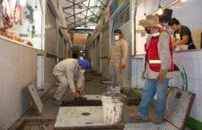 Realiza SAPAO saneamiento y limpieza del sistema sanitario del mercado Benito Juárez