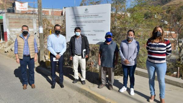 Entrega Ayuntamiento de Oaxaca obra en la colonia Manuel Sabino Crespo en favor de la seguridad vial