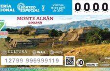 Develan billete de la Lotería Nacional alusivo a la zona arqueológica de Monte Albán