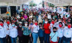 Compromete Lety Cruz gobierno de puertas abierta ante vecinos de la col. 25 de enero