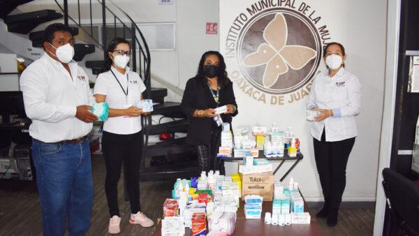 DIF Municipal de Oaxaca de Juárez dona medicamentos para mujeres, niñas y niños víctimas de violencia