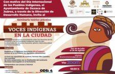 """Convoca Ayuntamiento de Oaxaca a participar en el seminario """"Voces indígenas en la ciudad"""""""